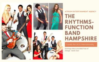 Party Band Hampshire | The Rhythms Party Band based Hampshire | Book The Rhythms for your Wedding at Atrium Entertainment Agency