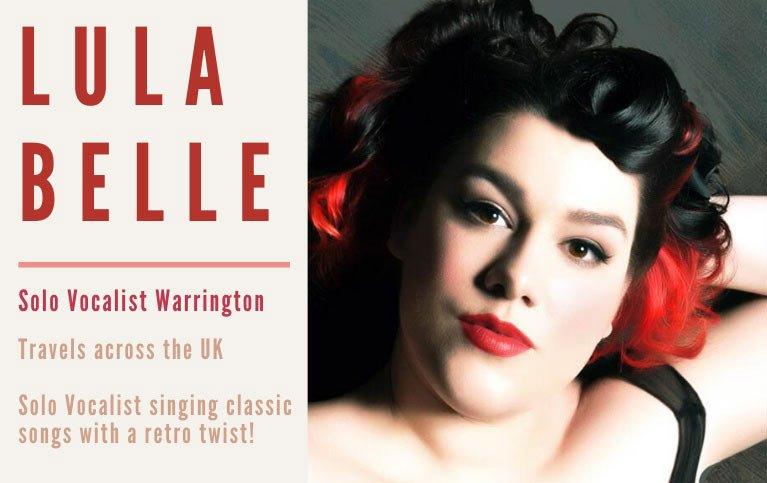 Solo Vocalist Warrington Lula Belle | Solo Singer Warrington for hire from Atrium Entertainment Agency