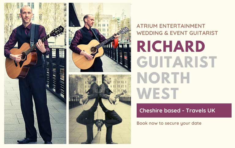 Wedding Guitarist North West   Wedding Guitarist Cheshire   Hire Richard Wedding Guitarist
