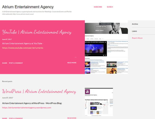 Atrium Entertainment at Blogger