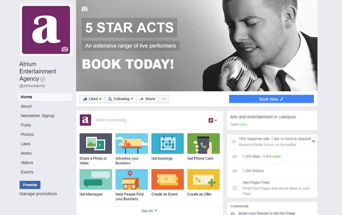 Atrium Entertainment Agency at Facebook   Facebook Account for Atrium Entertainment Agency